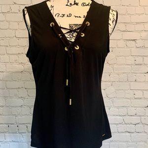 Calvin Klein black sleeveless top
